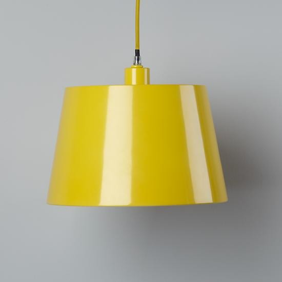 pop of color pendant shade yellow rectangle modern
