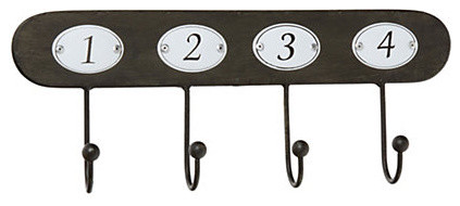 Numbered Wall Hooks traditional-hooks-and-hangers