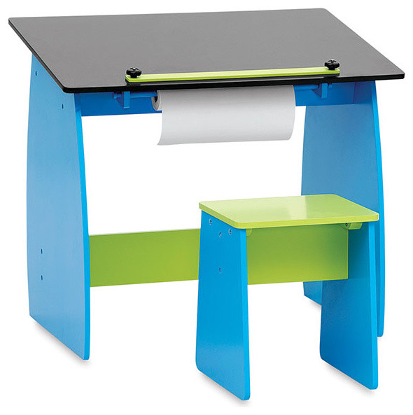 Studio designs kid 39 s drafting table with stool blick art for Material design table