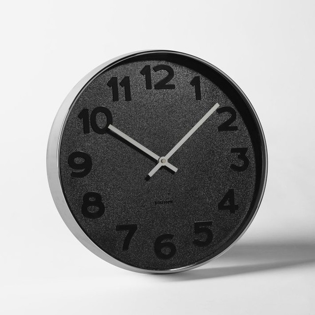 Mrs Black Wall Clock Modern Wall Clocks By West Elm