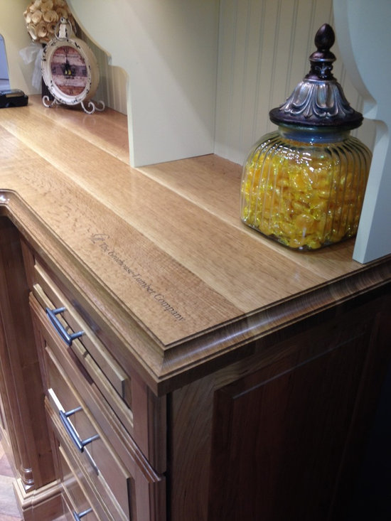 White Oak Wood Counter featured in the Elkay Display Booth at KBIS 2014 -