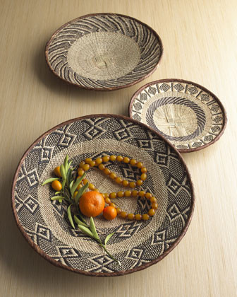 African Tonga Trays traditional serveware