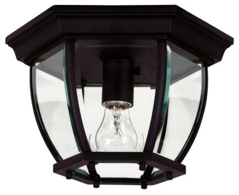 Kenroy Home Dural 1-Light Flush Mount 16277 - 11W in. traditional outdoor lighting