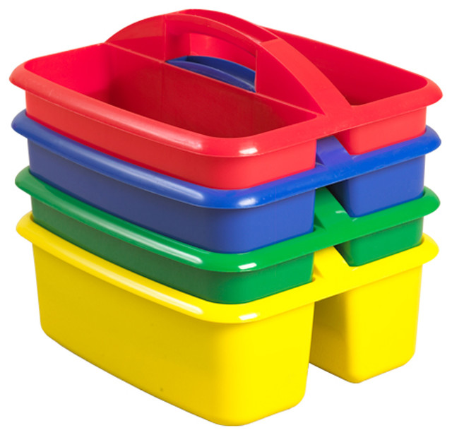 Ecr4Kids 4-Pc 2 Compartment Large Art Toy Storage Caddy ...