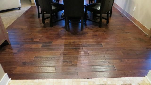 Hickory caf true heritage prefinished solid hand scraped for True hardwood flooring