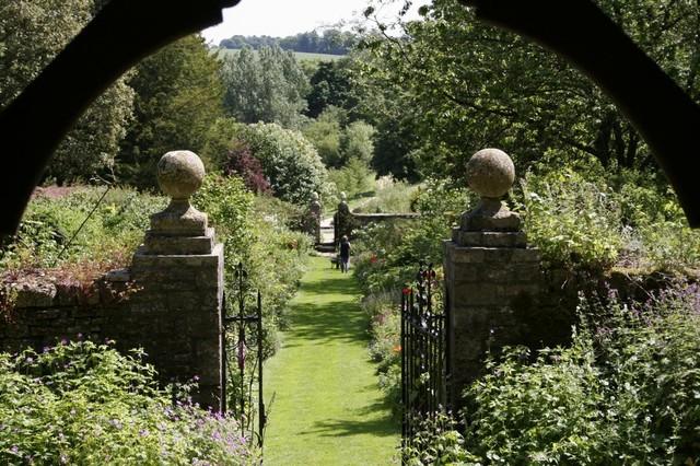 English garden view from gazebo wall mural 24 inches w x for English garden wall mural