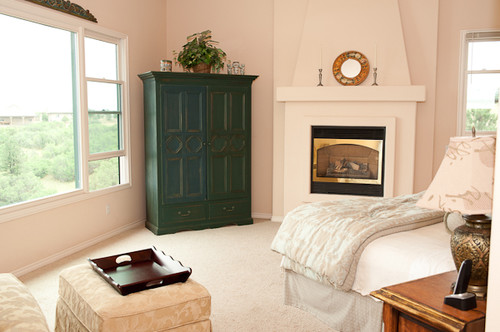 master bedroom remodel fireplace and wall color
