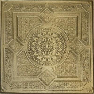 R 30 Styrofoam Ceiling Tile 20x20 - Antique Brass ceiling-tile