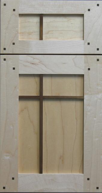 Custom Maple Shaker cabinet door with Walnut Pegs and Cross Pieces - Craftsman - other metro ...