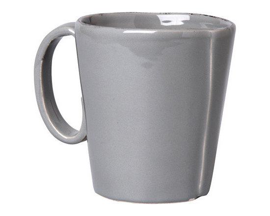 Vietri Lastra Mug - The overlapping strap is displayed prominently on the mugs, and the ample size makes the perfect cup of coffee or cocoa last a little longer!