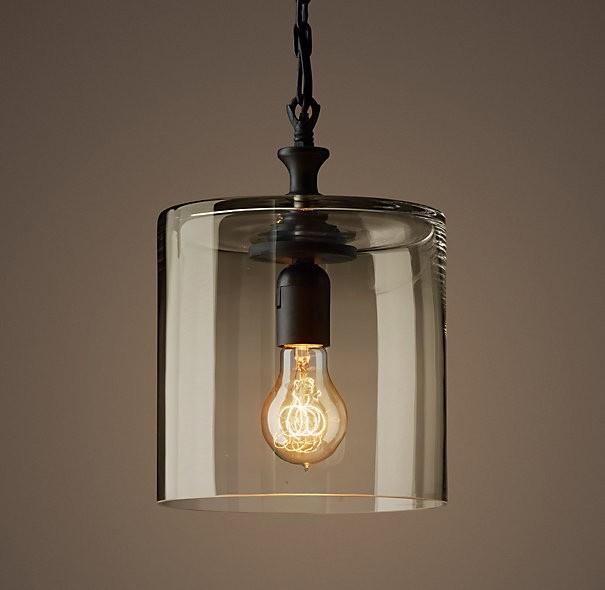 glass jar filament pendant rh 159 simple shapes