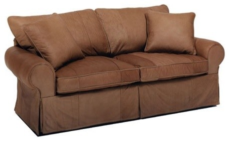 Skirted Leather Sofa modern-sofas