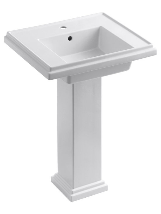 "KOHLER - KOHLER Tresham 24"" Pedestal Lavatory w/ Single-Hole Faucet Drilling - KOHLER Tresham 24"" pedestal lavatory with Single-Hole Faucet Drilling"