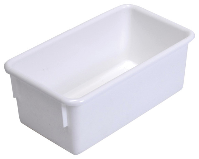 "Steffywood Home Plastic Storage Box Cabinet White Tote Tray 13""L X 8""W X 5""H - Contemporary ..."