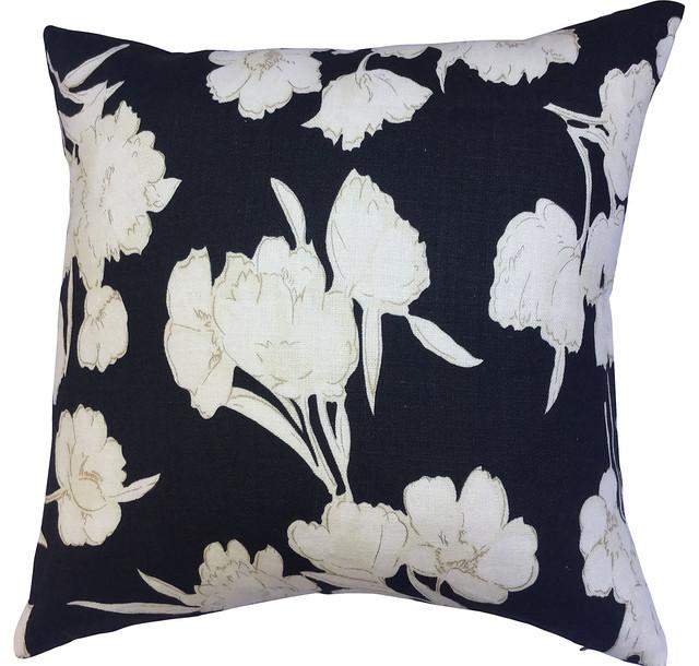 Ralph Lauren Floral Linen Pillow - Contemporary - Decorative Pillows