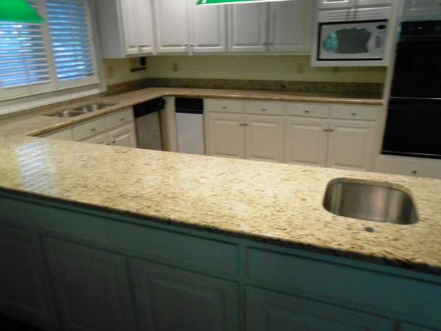 Giallo Ornamental Granite-exceptional for White Cabinets - Traditional ...