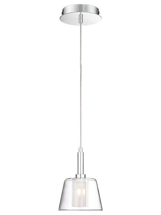 Possini Euro Design - Vesper Glass and Chrome Mini Pendant Light -