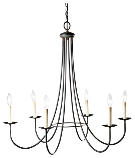 six light iron chandelier traditional-chandeliers