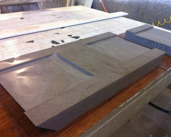 Seen Going Through the Shop - A custom coffee table is rough cut from thick slabs