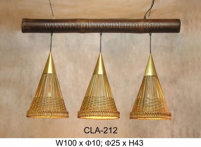 bamboo ceiling lamps tropical