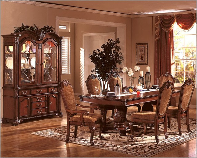 Mcferran home furnishings formal dining room set in for Cherry formal dining room sets
