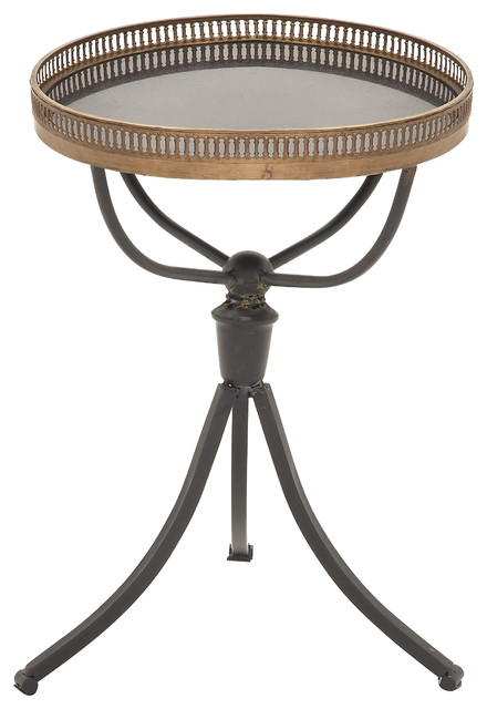 Enticing and unique styled metal marble accent table for Cool accent tables
