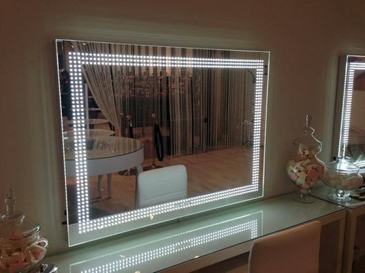 Lighted Mirrors contemporary-bathroom-mirrors