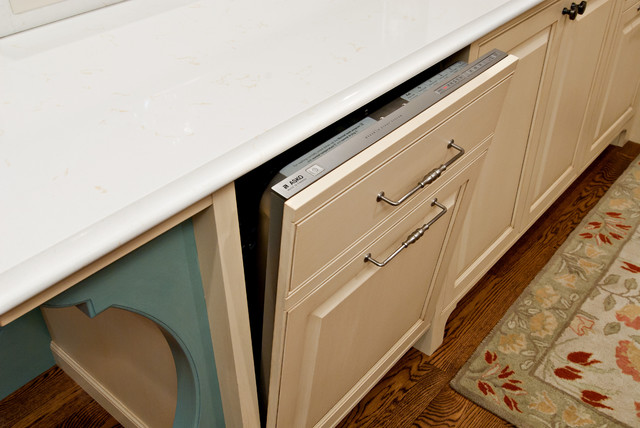 Panel Front Dishwasher Detail - Traditional - other metro - by Steven Cabinets