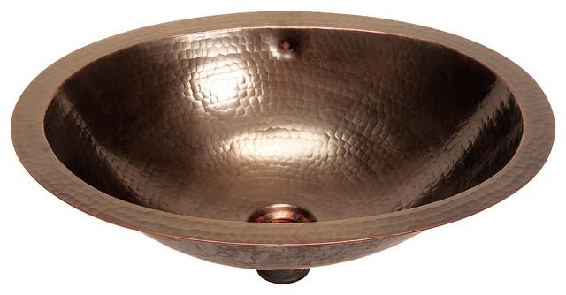 Belle Foret Model BFC13 ORB Medium Oval Lavatory Copper Sink bathroom-sinks