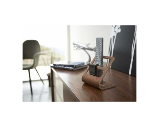 Rin - Wooden Remote Control Holder with Two Sections -
