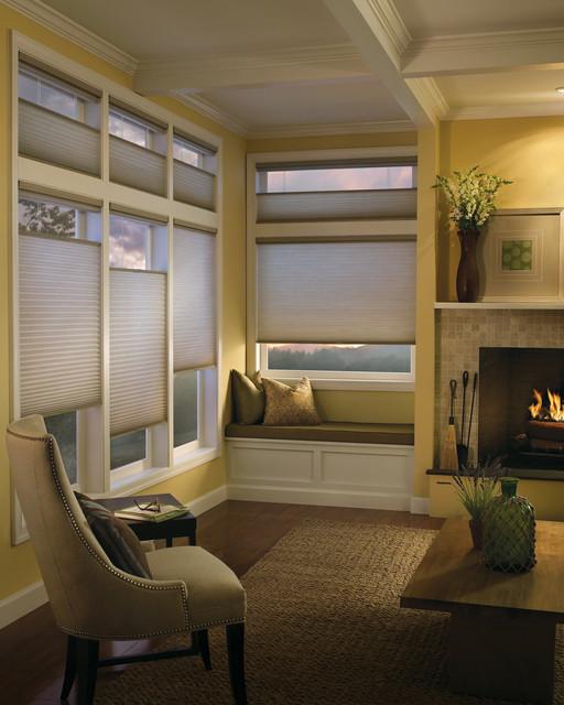 Honeycomb Shades contemporary-living-room