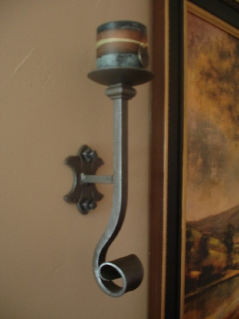 hand forged candles sconces transitional los angeles by janis