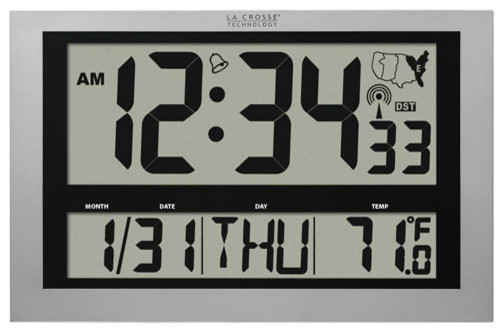 large atomic digital wall clock modern clocks