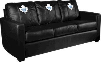 Toronto Maple Leafs NHL Xcalibur Leather Sofa Modern Sofas By Man Cave