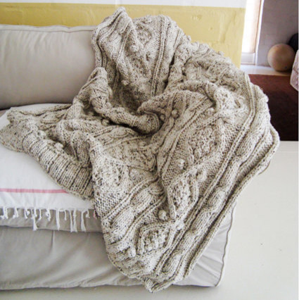 Chunky Cotton Cable Knit Throw by BiscuitScout traditional-throws