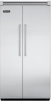 Viking  Built-in Side by Side Stainless Steel Refrigerator contemporary refrigerators and freezers