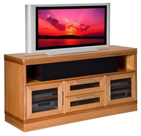 Furnitech Transitional 62 Inch TV Stand traditional-media-storage