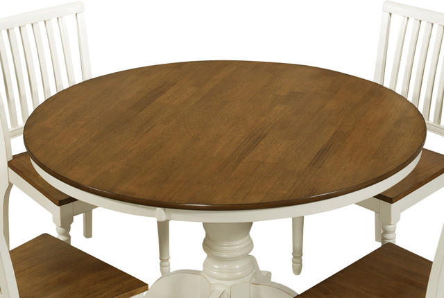 Monarch Specialties 1840 Round Dining Table In Antique
