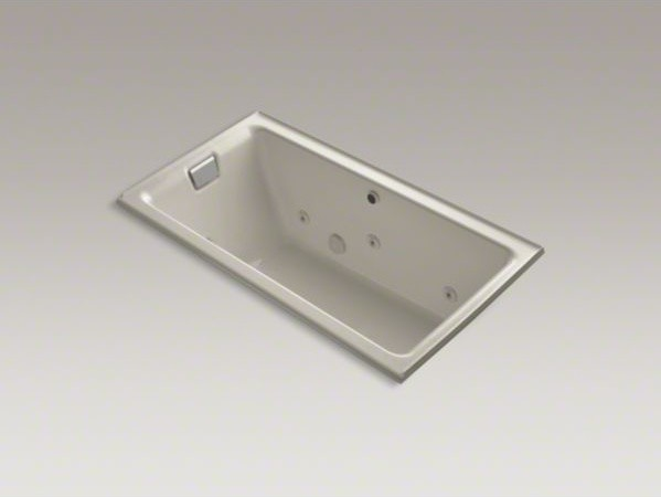 "KOHLER Tea-for-Two(R) 66"" x 36"" alcove whirlpool with left-hand drain and heater contemporary-bathtubs"