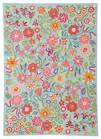 Company C Wool Rug April Blooms eclectic kids rugs