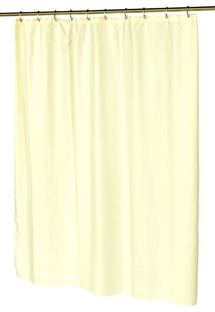 waffle weave polyester curtain in ivory contemporary