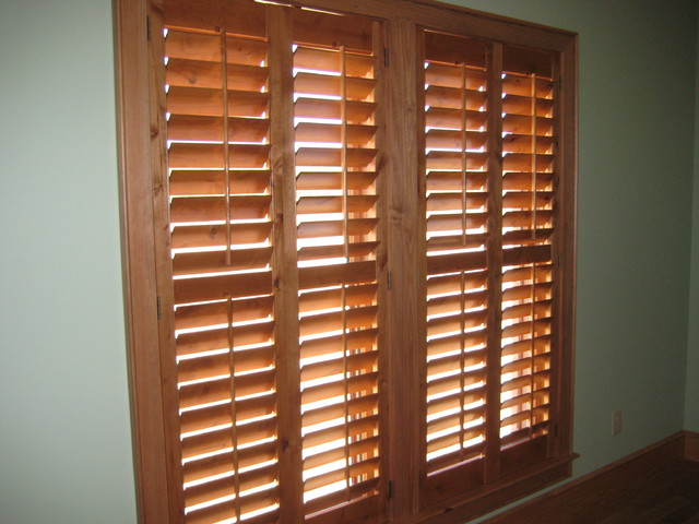 Knotty Alder Plantation Shutters in Thomasville Georgia farmhouse