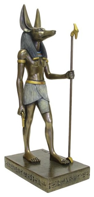 15 5 Inch Large Egyptian Anubis Statue Cold Cast Bronze