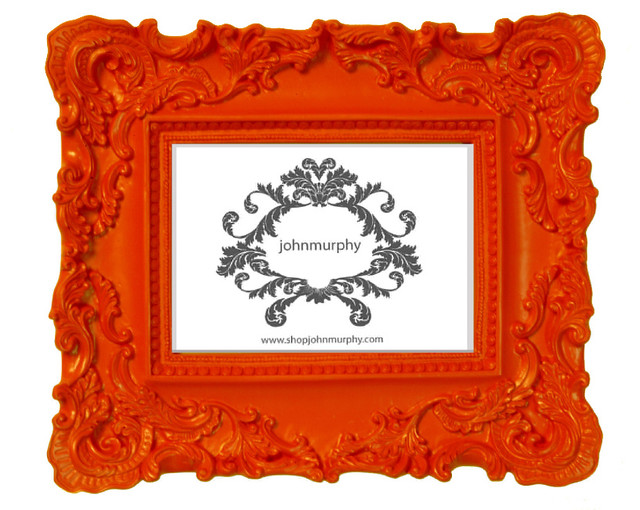 Orange picture frame eclectic picture frames by for 11x14 table top frame
