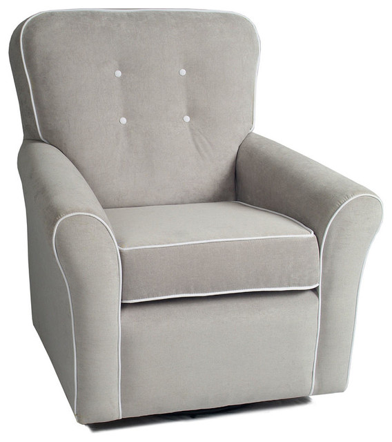 Buy Montclair Upholstered Motion Glider Chair, Charcoal - Built with mom and baby in mind, the Montclair Upholstered Motion Chair is perfect for nursing or relaxing and bonding with baby. This upholstered chair features exceptionally smooth swivel, rocking and recline features. For additional comfort the pop up footrest adds to the long list of.