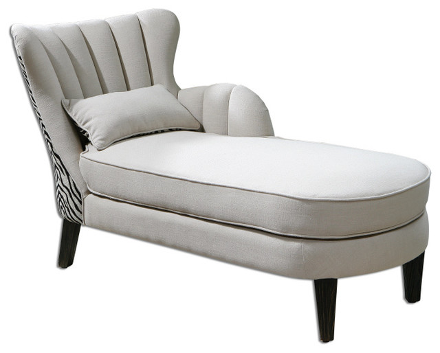 Zea chaise lounge traditional day beds and chaises for Accent chaise lounge