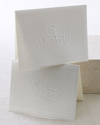 Victorian Script Notes w/ Pers. Envelopes traditional desk accessories