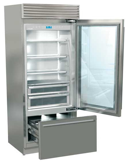 Fhiaba refrigerator xi8990tgt professional series glass door contemporary refrigerators - Glass door refrigerator freezer ...