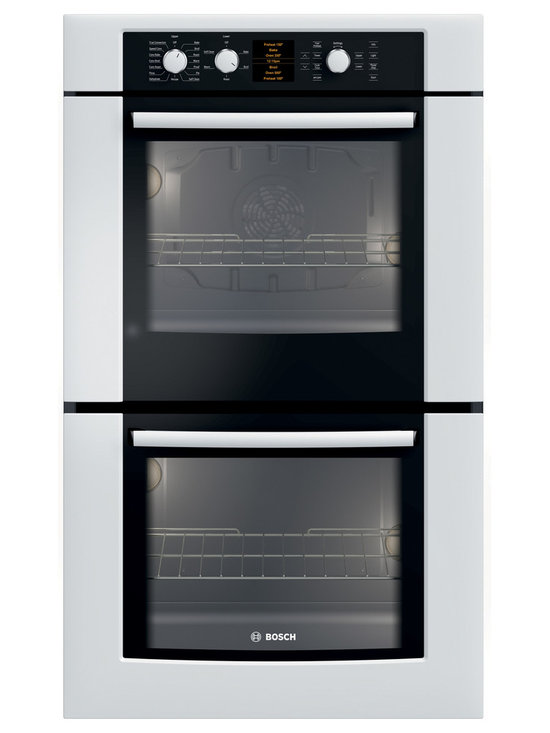 "Bosch 30"" 500 Series Double Wall Oven With Convection, White 