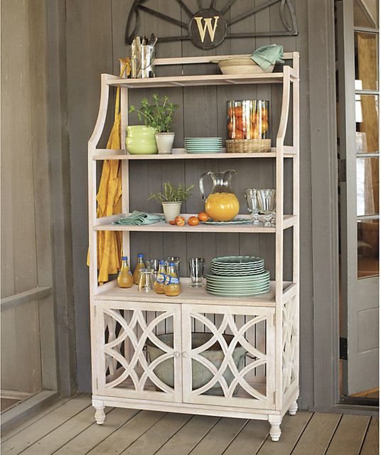 Ceylon Whitewash Baker's Rack - Traditional - Baker's Racks - by Ballard Designs